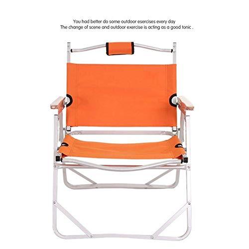 ARONGBC - Silla de playa para acampar al aire libre, silla de pesca, silla Oxford (color: naranja)
