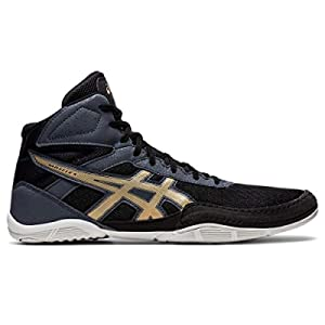 ASICS Men's Matflex 6 Wrestling Shoes, 10.5, Black/Champagne