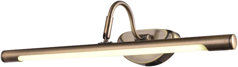 Moontang Amerikanische Spiegel-Scheinwerfer führten europische Spiegel-Kabinettlampe Badezimmer-Spiegellampe, die Tischlampe kleidet (Farbe   Positive Weiß-6w48cm, Gre   -)