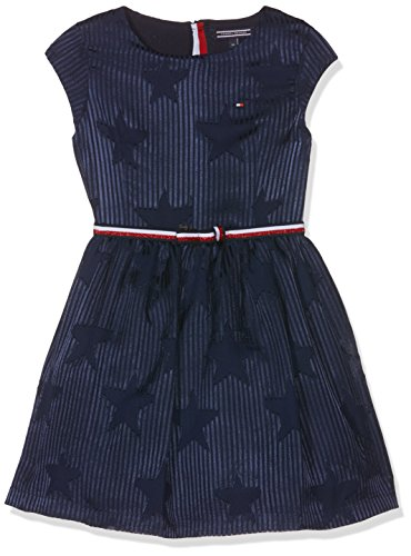 Tommy Hilfiger Devore Dress S / S, Dress for Girls, Blue (Navy Blazer 431), 14 years (Manufacturer size: 14)