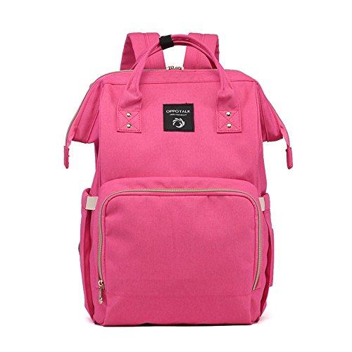 Sac de maman de mode coréenne, sac à bandoulière, sac mère multifonctionnel à grande capacité, sac à dos, sac de bébé mère ( Couleur : Rose )