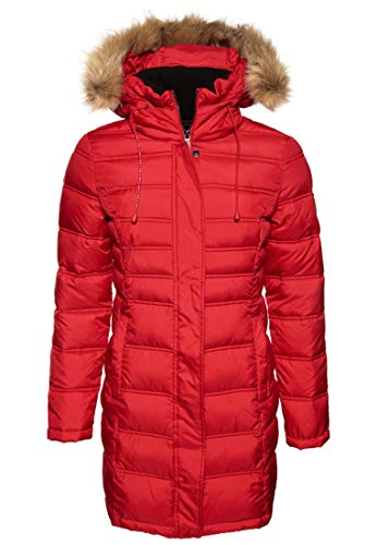 Superdry Damen Jacke MOUNTAIN SUPER FUJI, Rot (Tango Red OPK), 44 (Herstellergröße: X-Large)