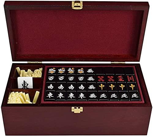 Cakunmik Juego de Japón Mahjong, seleccionado producción de acrílico Saludable, Conjunto de Viajes de Caja de Regalo Mahjongg Japonés Majiang Conjuntos Majong Board Juego