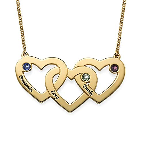 Personalized Engraved 3 Heart Necklace