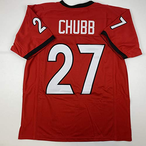 Unsigned Nick Chubb Georgia Red Custom Stitched College Football Jersey Size Men's XL New No Brands/Logos