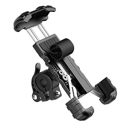 Timagebreze Soporte para TeléFono para Bicicleta de Motocicleta Soporte para Manillar de Montaje para TeléFono de Motocicleta para Exterior para Ciclismo Negro