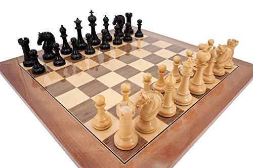 AJH Juegos de ajedrez Adultos y niños, Juego de Tablero de ajedrez de Madera con Juego de ajedrez magnético Mejorado, Familiares, niños, Amigos y Padres
