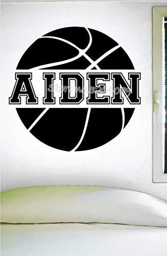 personalisierte basketball benutzerdefinierte name wandtattoo mädchen basketball jungen basketball aufkleber für kinderzimmer jungen schlafzimmer mural 46X42CM