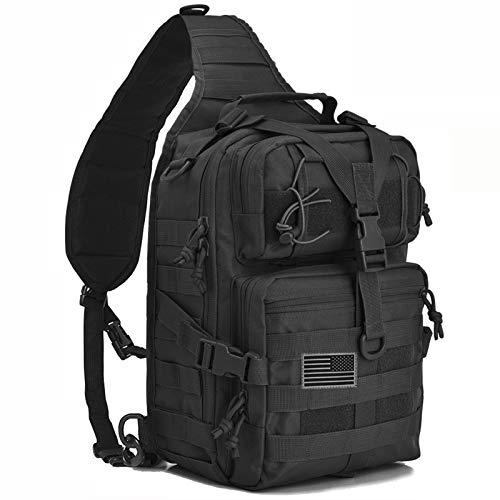 Taktischer Schulter-Rucksack, 20 l, Herren, schwarz, Small