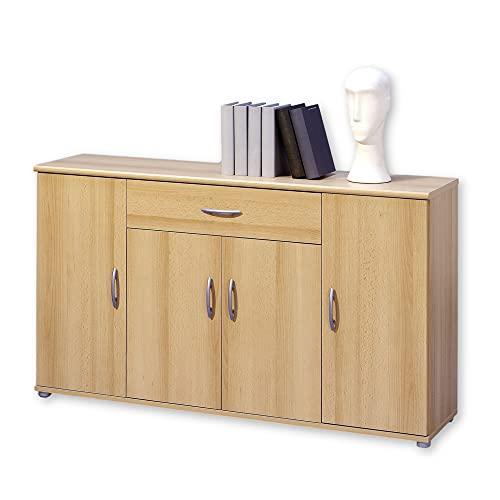 LILLY Kommode in Buche Optik - Modernes Sideboard mit viel Stauraum für Ihren Wohnbereich - 118 x 70 x 30 cm (B/H/T)