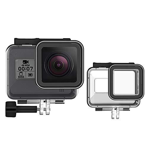 TELESIN Custodia Protettiva Impermeabile per GoPro Hero 8 Black Action Camera, resistente all\'acqua fino a 200FT (60M) con Supporto Tripode e Vite di Fissaggio