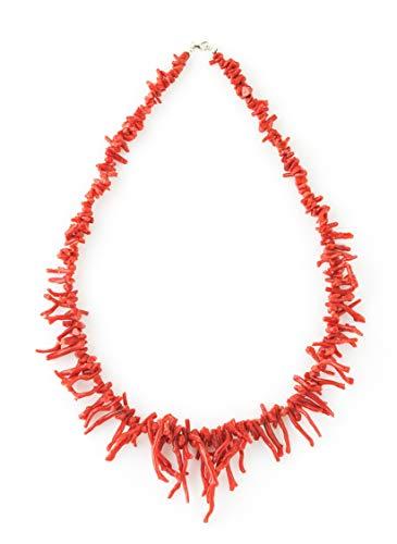 Collar de flecos de coral