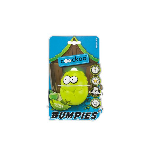 COOCKOO Dog Toy BUMPIES Regular, Apple 7-16KG YELLOWWISH-Green 85x68x58mm