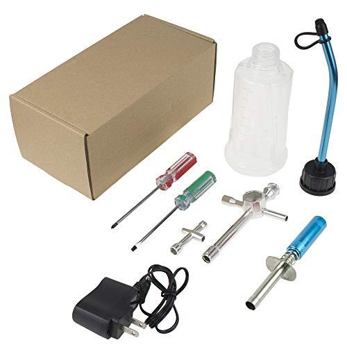 RC Nitro Gas Starter Kit Glow Plug Igniter Ignitor Tool Us Adaptor 80143 for HSP Redcat Trucks Buggies Model Car,COJOYS