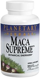 Planetary Herbals Maca Supreme 600mg, Botanical Energizer, 100 Vegetarian Capsules