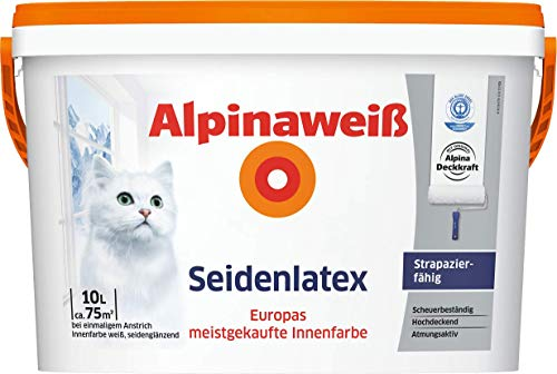 ALPINA Seidenlatex 5 Liter - Seidenglänzende Latexfarbe