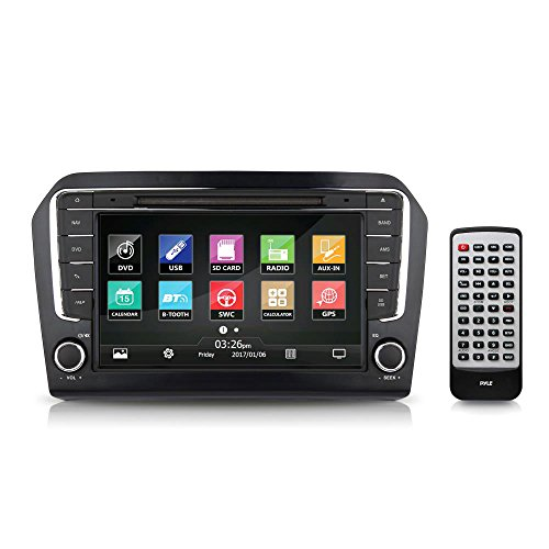 2013 VW Jetta Console Radio Stereo Receiver System, GPS Navigation, 8'' HD Touchscreen Display, Bluetooth Wireless, CD DVD Player, AM FM Radio, Double DIN (PVWJETTA13)