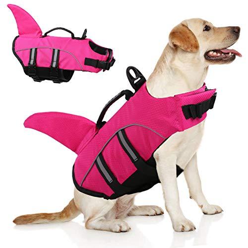 Large Dog Life Jacket,Dogs Life Vests for Swimming Extra Large,Puppy Float Coat Swimsuits Flotation Device Life Preserver Belt LifesaverFlotation Suit for Pet Bulldog Labwith Reflective Strap