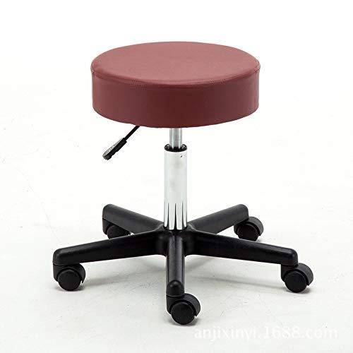 Asiento de la silla Rotación de 360 grados y 10 cm de cojín Oficina giratoria Salón de belleza Silla médica enrollable Taburete hidráulico de elevación de gas con ruedas Oficina Sala de Reun