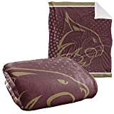 Texas State University Bobcats Blanket, 50'x60' Logo Dots, Silky Touch Sherpa Back Super Soft Throw
