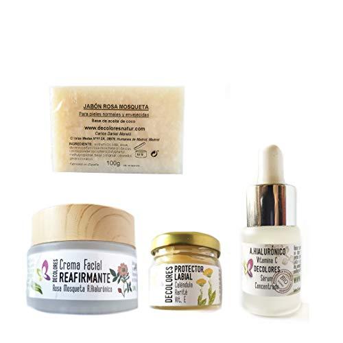 Decolores | Kit de Cosmética Natural Facial Rejuvenecedor. Kit de Cosmetica Facial Siempre Joven.