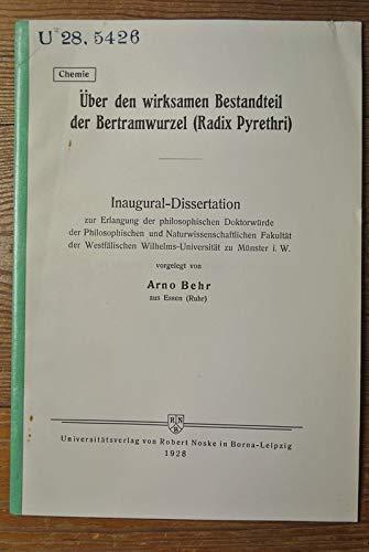 Über den wirksamen Bestandteil der Betramwurzel (Radix Pyrethri).