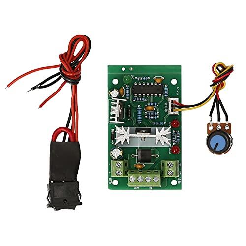 skrskr Módulo controlador de velocidad del motor PWM DC 6V 12V 24V 30V Regulador de velocidad del motor reversible ajustable Interruptor de marcha atrás Luz indicadora LED