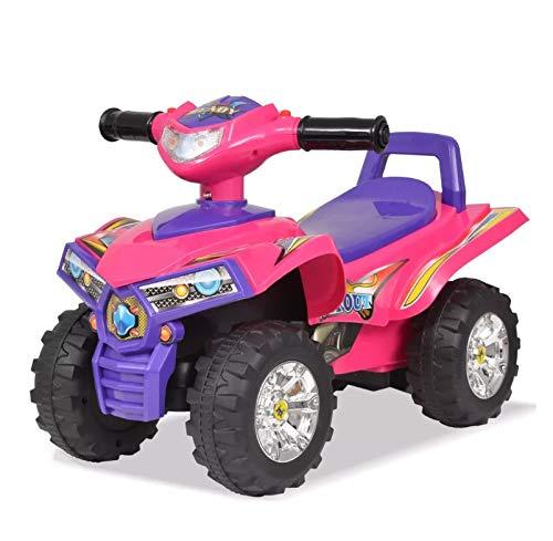 Zerone Quad Infantil, Quad ATV Correpasillos con Sonidos y Luces, Rosa Morado