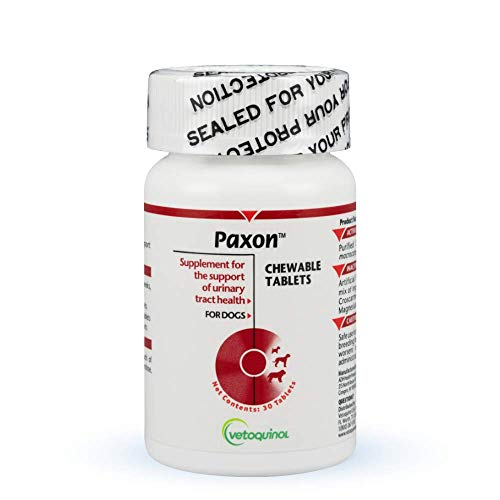 Paxon Cranberry Urinary Tract Supplement for Dogs to Promote Urinary and Bladder Health, 30ct Tablets