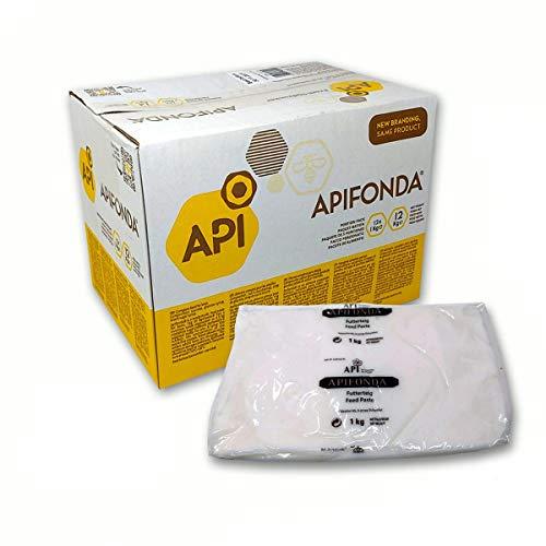 APIFONDA CANDITO per API alimento in Pasta per Apicoltura da kg. 1 (Scatola da 12 Pezzi)