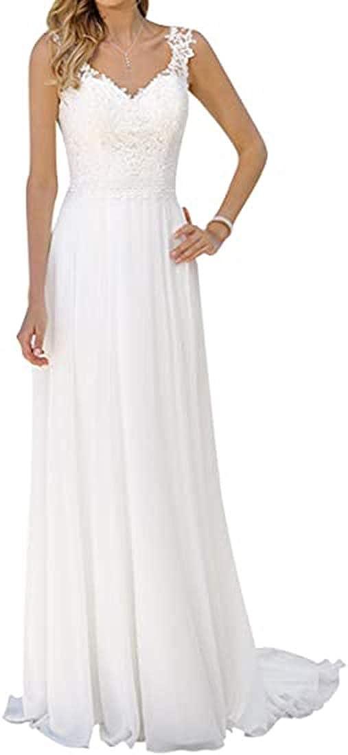 SIQINZHENG Sheah Lace Wedding Dresses Long Bridal Gowns for Women
