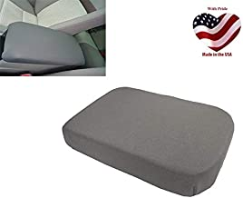 Car Console Covers Plus Made in USA fits Nissan Frontier 2005-2014 Neoprene Center Armrest Cover for Center Console Lid Gray