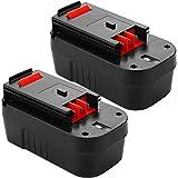 3.8Ah 18 Volt HPB18 Replacement Battery Compatible with Black and Decker 18V Battery HPB18-OPE 244760-00 A1718 A18 A18E Firestorm FS180BX FS18BX FS18FL FSB18 NST2118