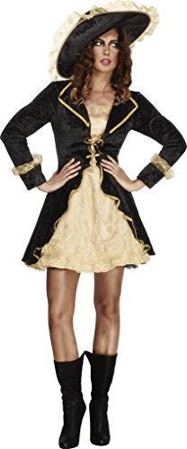 Fever, Damen Säbelrassler Kostüm, Kleid mit angebrachter Jacke und Hut, Größe: S, 27072