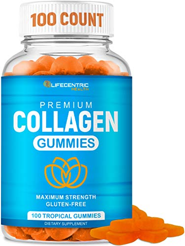 Collagen Gummies for Women and Men | Collagen Supplement for Joint Support Plus Strengthen Your Hair Skin and Nails | 100 Count Delicious Tropical Flavor Collagen Supplements for Women and Men