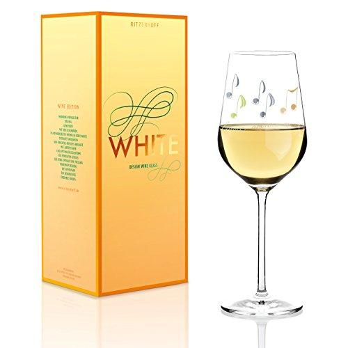 Ritzenhoff White Weißweinglas, Kristallglas, Grün, Platin, 7.9 cm