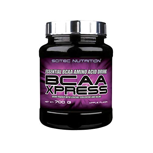 Scitec Nutrition BCAA Xpress, Bebida en polvo de aminoácidos esenciales BCAA con leucina, isoleucina y valina, 700 g, Manzana