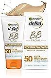 Garnier Crema con Color Protector Solar BB Sun Delial para rostro y Escote con Vitamina E, IP50+ - 50 ml