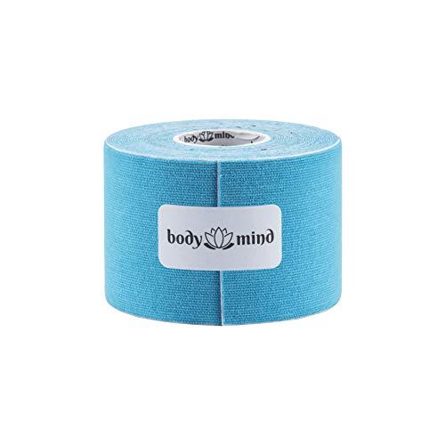 Body & Mind 2,5cm / 5cm / 10cm breites Kinesiologie Tape 5m, antiallergen & wasserfest, elastisches hautfreundliches Kinesiotape, Sporttape Bandage für Sport, Freizeit, Physiotherapie und Medizin