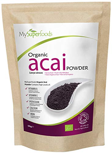 MySuperfoods Organic Acai Berry Powder 50g, Natural Source of Antioxidants