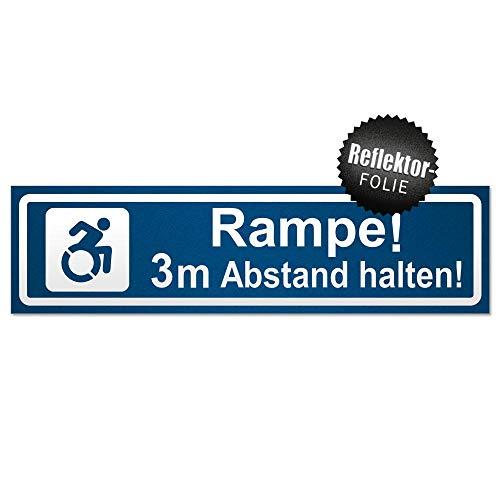 Kiwistar Rampe Motiv 3m Abstand invertiert Magnetschild Schild magnetisch