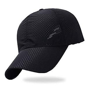 theMODE 【anan掲載モデル】 メッシュ キャップ メンズ スポーツ ランニング 帽子 UVカット (ブラック logo)