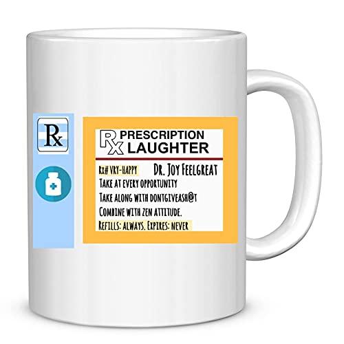 Funny Doctor Mug,Prescription Laughter Mug,Anesthesiologist Mug, for Doctor, Doctor webmd Mug, gi Doctor Mug, 11oz