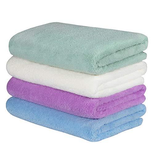 Yoofoss Handtuch 4er Pack Handtücher 50x100cm Handtuch Set Handtücher Set Weiche und Flauschige Towel als Duschtuch Badetuch