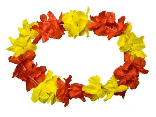 Alsino Hawaï Multicolore Collier de fleurs Hula Deluxe toutes les couleurs, Choisir : Rouge Jaune 11