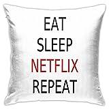 Mangia Dormi Netflix Ripeti Camera da Letto Divano Divano...