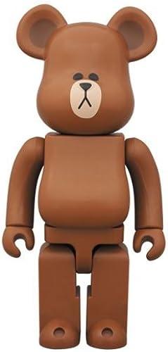 BE @ RBRICK x LINE marron Bear Brick 400%