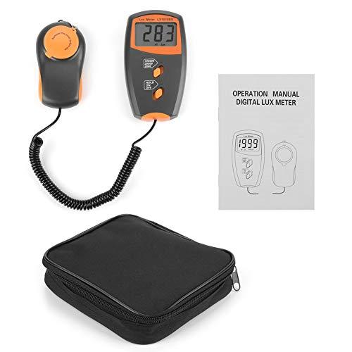 Luxómetro digital, Akozon Medidor de luz portátil pantalla LCD Fotómetro Iluminómetro 1-100,000Lux / 20,000Lux / 100,000Lux