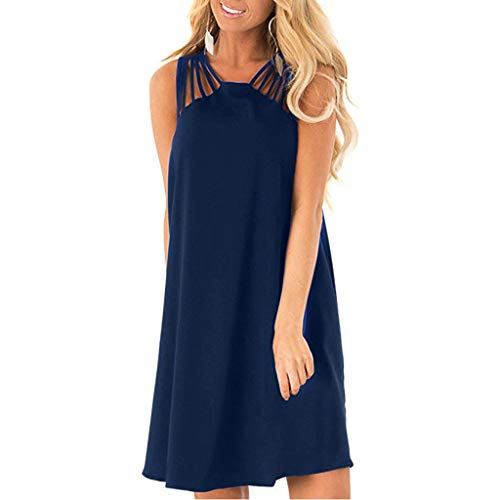 Best Deals! Witspace Women's Summer Sexy Flowy Spaghetti Hollow Strap Sleeveless Beach Slip Dress