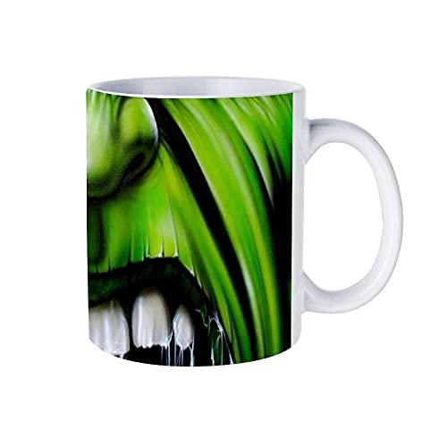 Superhero Hulk - Taza de café (porcelana, 330 ml, para capuchino, latte, té, varios colores